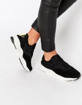 Reebok Black Furylite Slip On With Speckled Sole - Черный